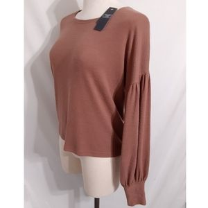 Abercrombie & Fitch Balloon Sleeve Knit Sweater